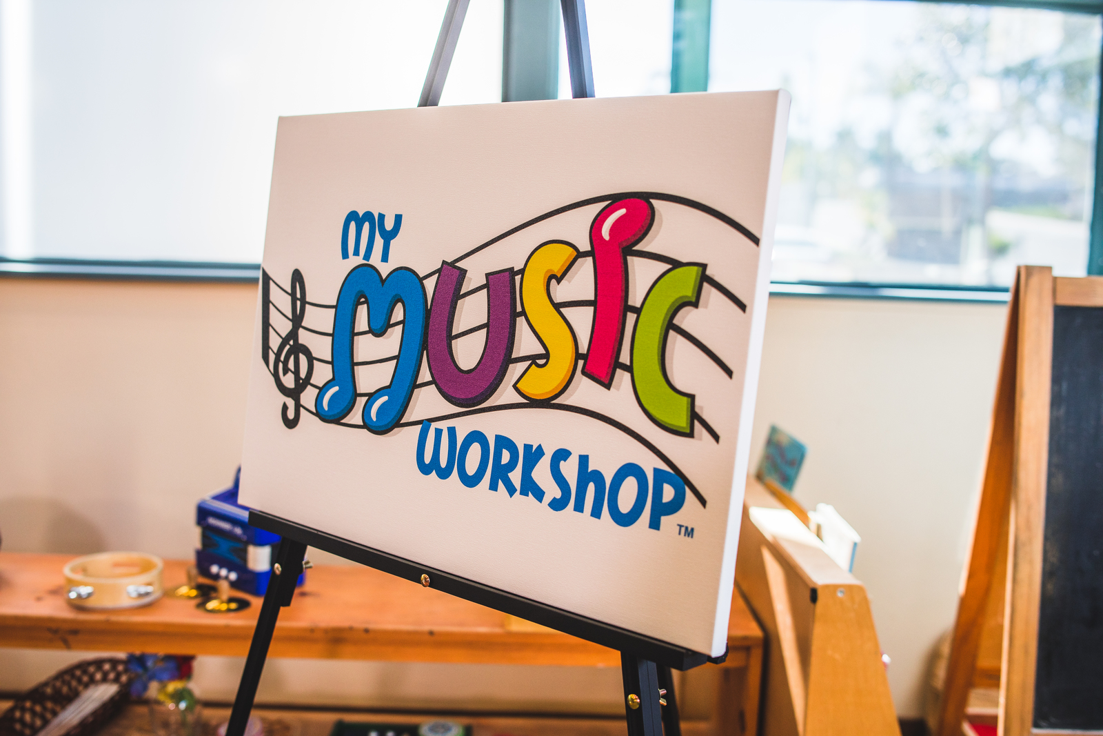 My Music Workshop Logo on Posterboard